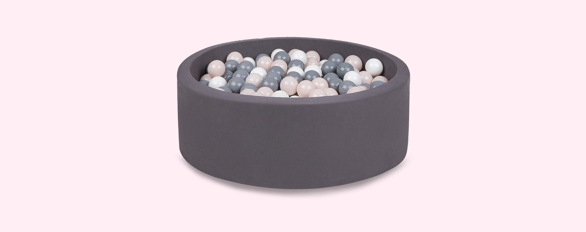 Grey/Powder/White Balls Larisa and Pumpkin Organic Cotton Ball Pit