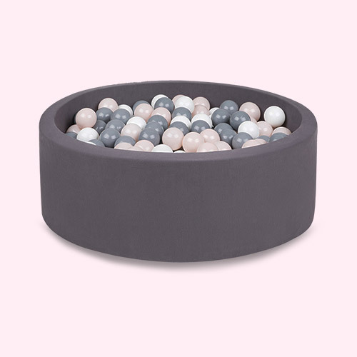 Grey/Powder/White Balls Larisa and Pumpkin Organic Cotton Ball Pit