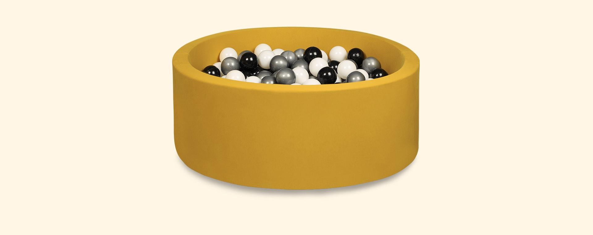 Black/Silver/White Balls Larisa and Pumpkin Organic Cotton Ball Pit
