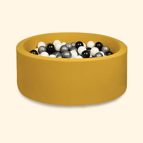 Black/Silver/White Balls Larisa and Pumpkin Organic Cotton Ball Pit