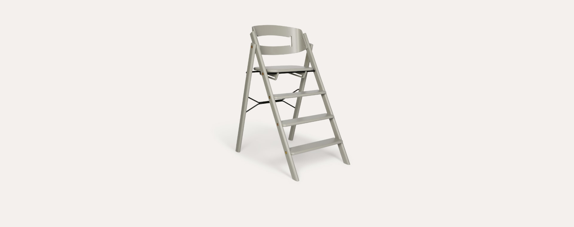 Grey KAOS Foldable Highchair With Safety Rail