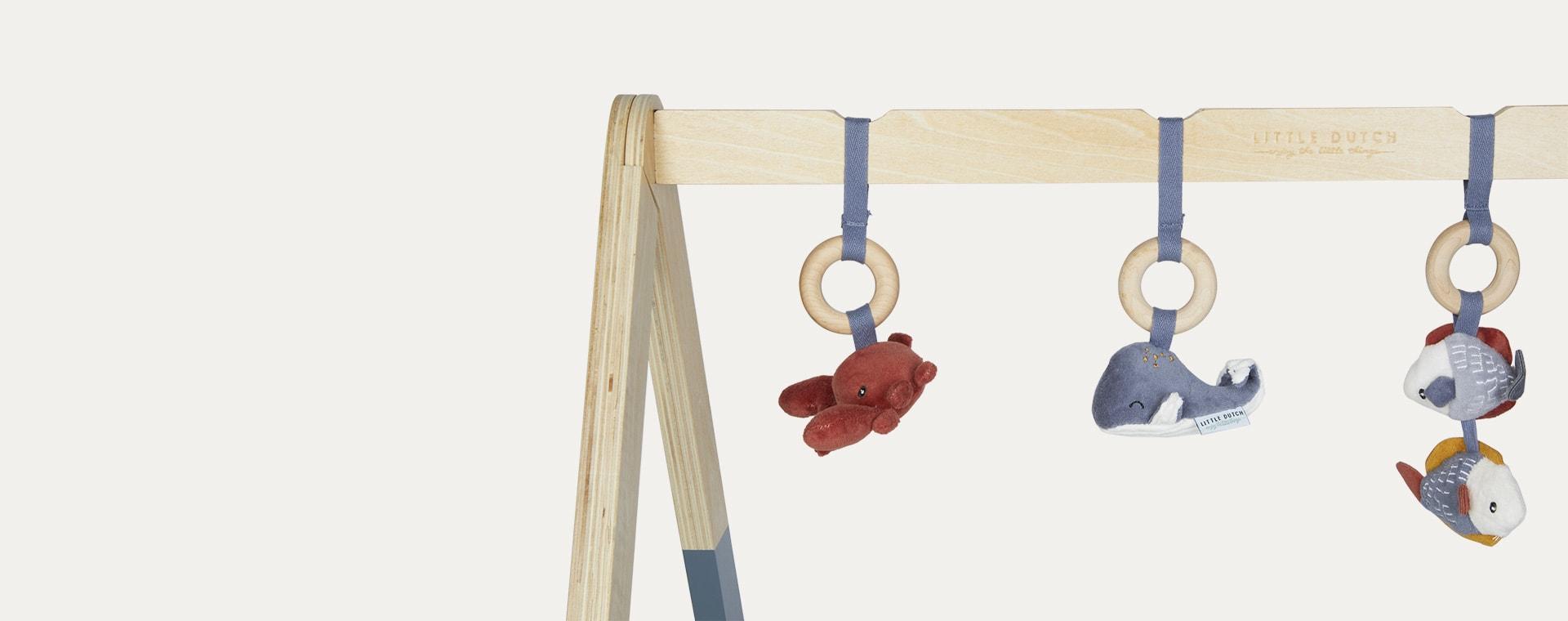 Blue Little Dutch Wooden Play Gym
