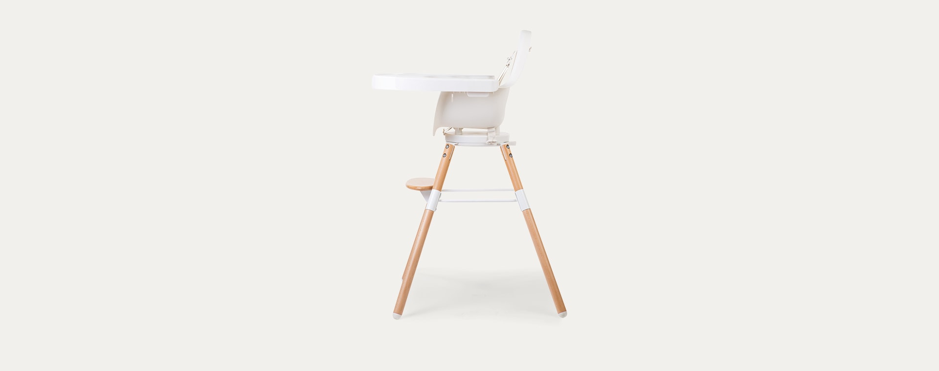 White Childhome Evolu Highchair Feeding Tray