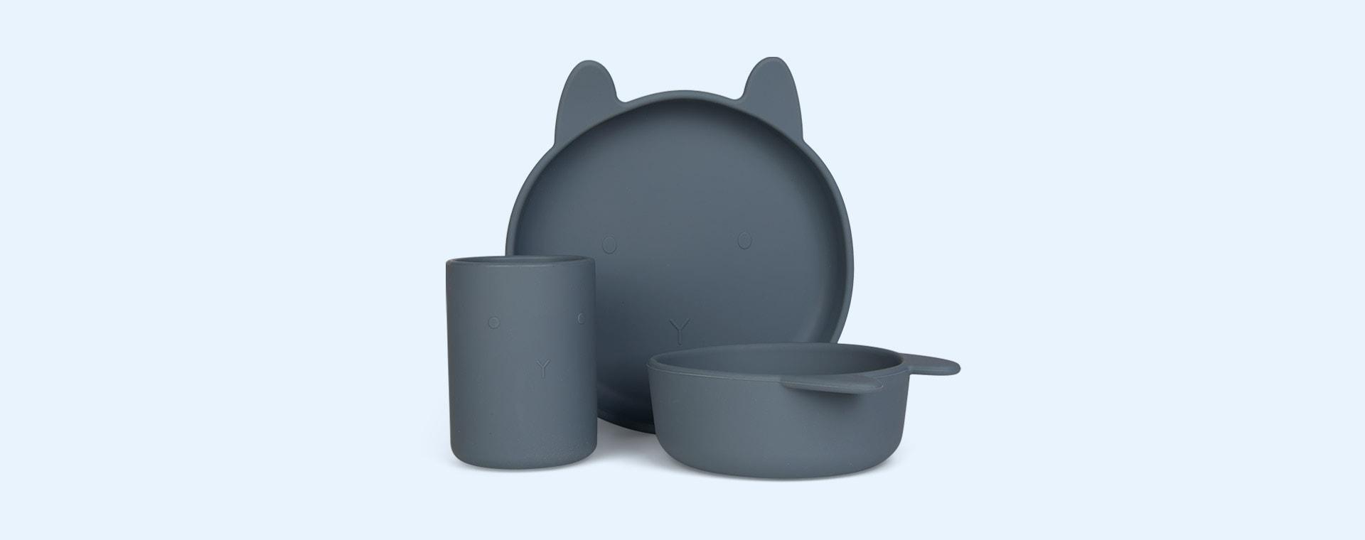 Rabbit Blue Wave Liewood Cyrus Silicone Junior Set