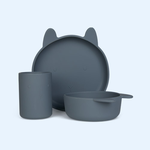 Rabbit Blue Wave Liewood Cyrus Silicone Junior Set