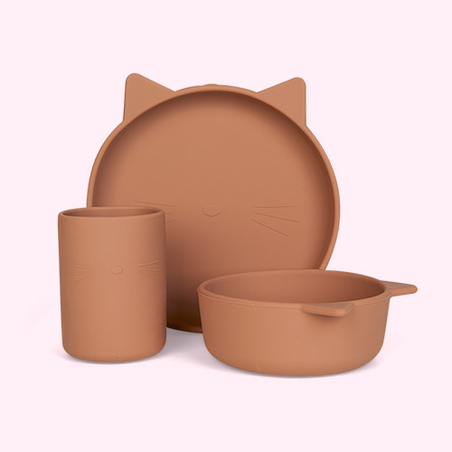 Cat Dark Rose Liewood Cyrus Silicone Junior Set