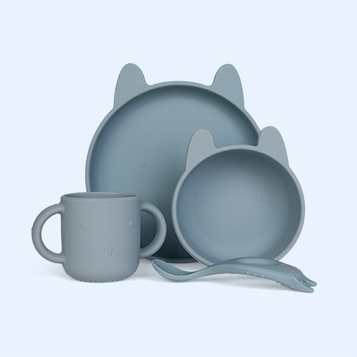 Rabbit Sea Blue Liewood Vivi Silicone Set