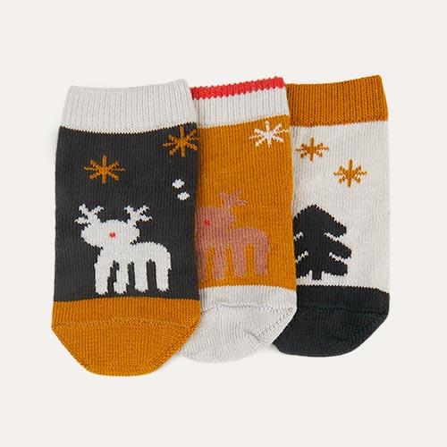 Holiday Hunter Green Multi Mix Liewood Silas Socks