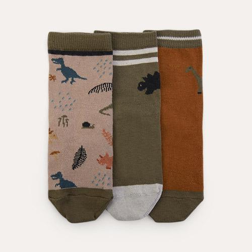 Dino Dark Sandy Mix Liewood 3-Pack Silas Socks