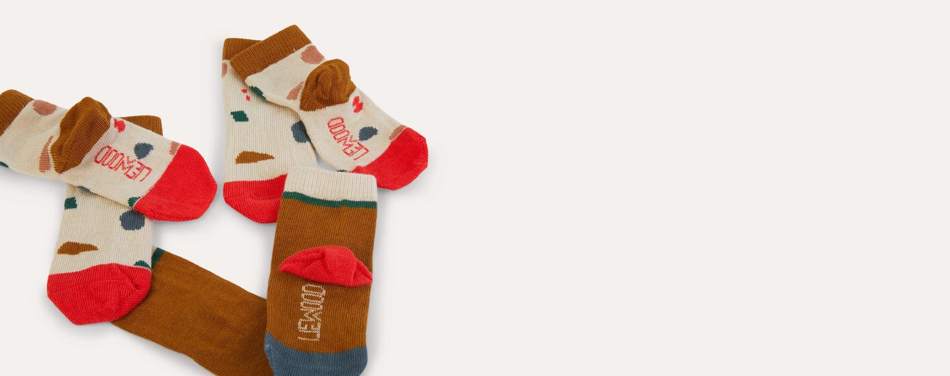 Geometric Foggy Mix Liewood 3-Pack Silas Socks