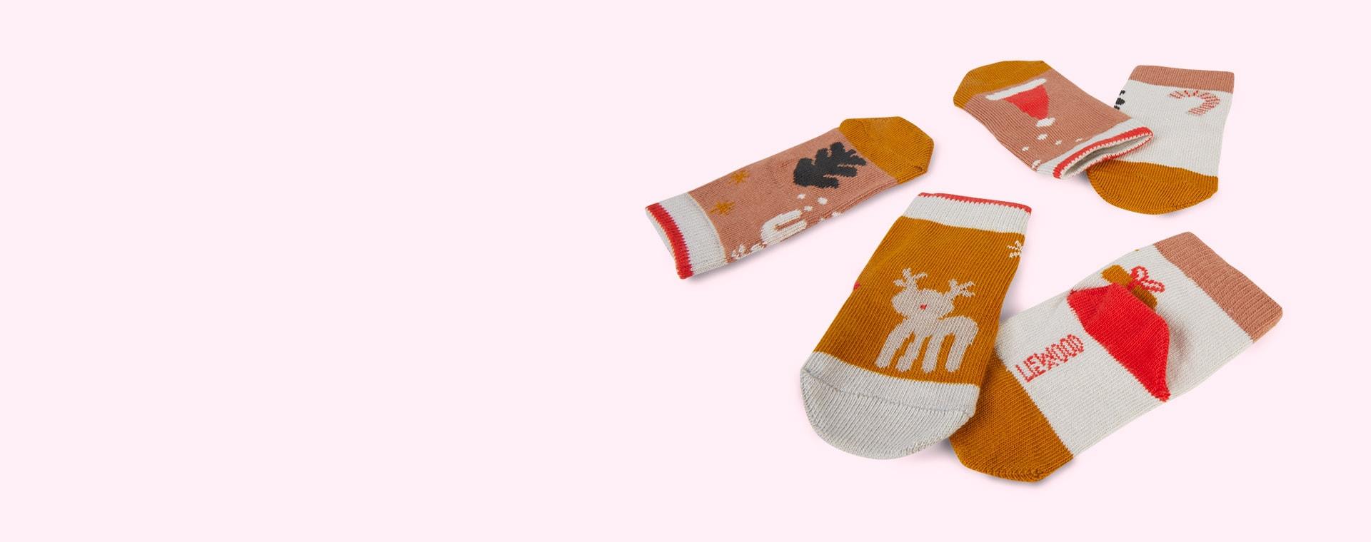 Holiday Tuscany Rose Multi Mix Liewood Silas Socks
