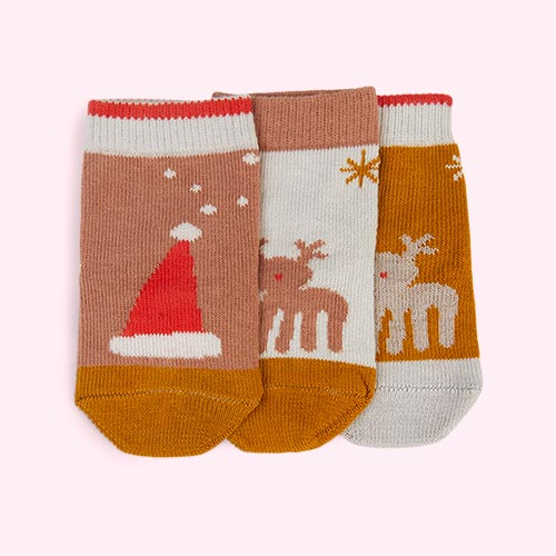 Holiday Tuscany Rose Multi Mix Liewood 3-Pack Silas Socks
