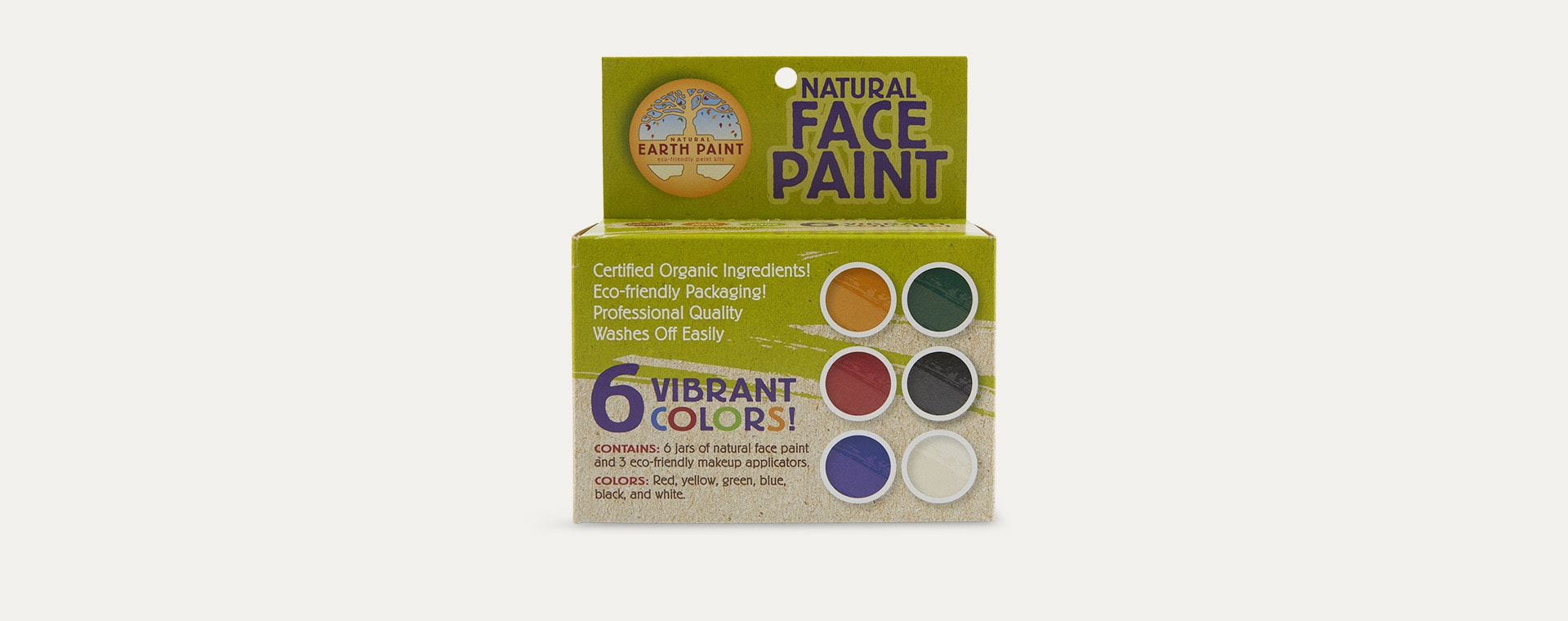 Multi Natural Earth Paint Natural Face Paint Kit