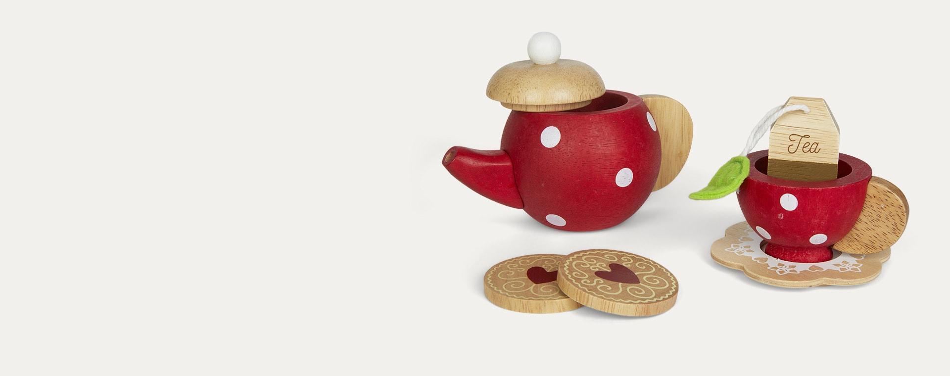 Multi Le Toy Van Tea Set & Tray