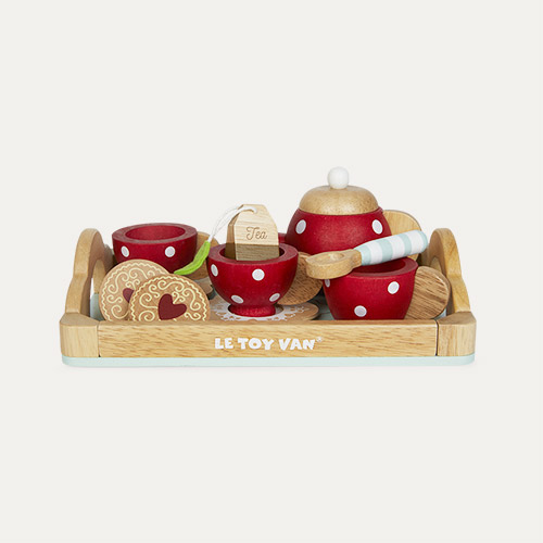 Multi Le Toy Van Tea Set & Tray