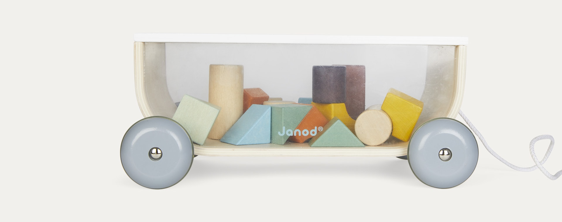 Multi Janod Sweet Cocoon Cart With Blocks