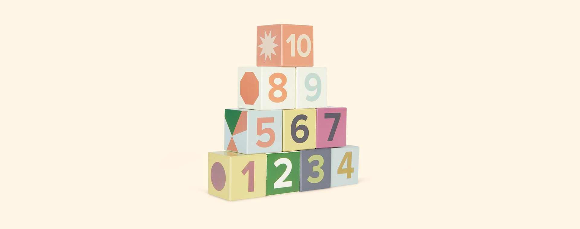 Multi Kid's Concept 10 Wooden Stacking Cubes