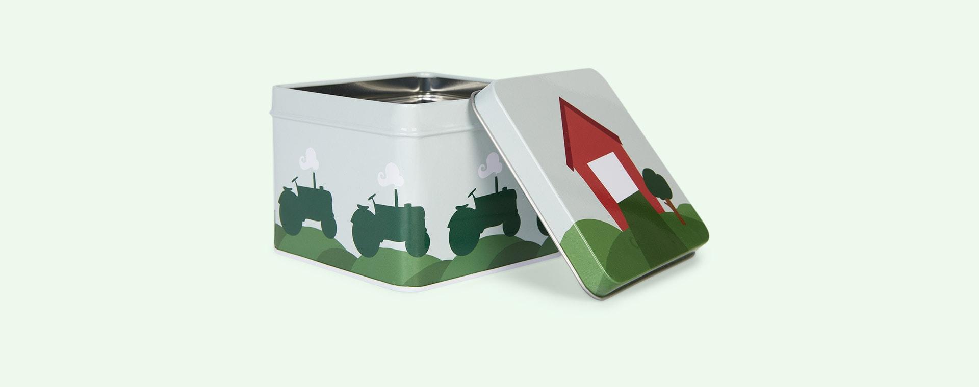 Tractor & Barn Blafre Small Tin Box