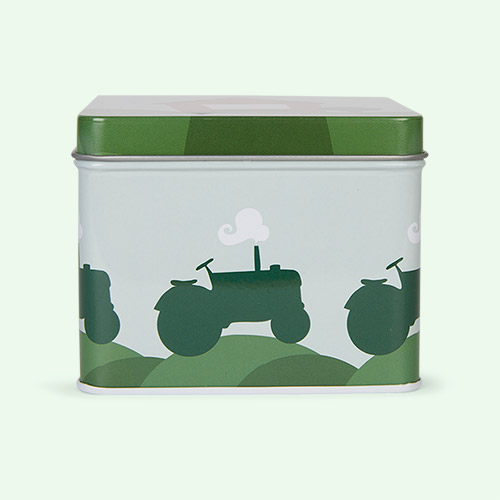 Tractor & Barn Blafre Small Tin Box