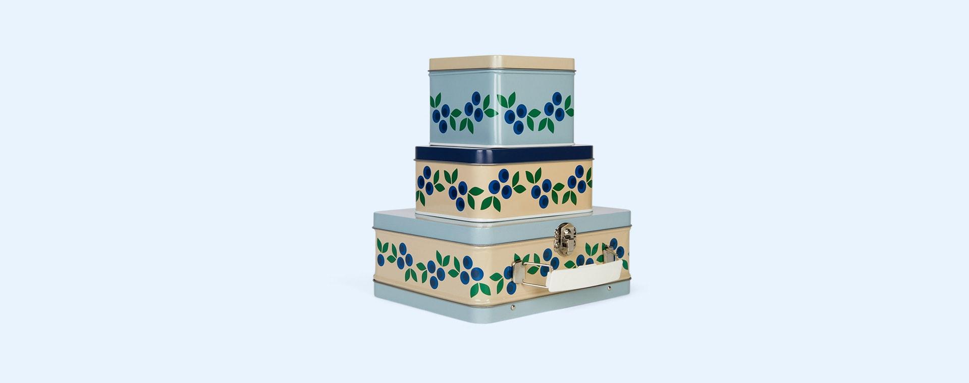 Blueberry Blafre Rectangular Tin Box