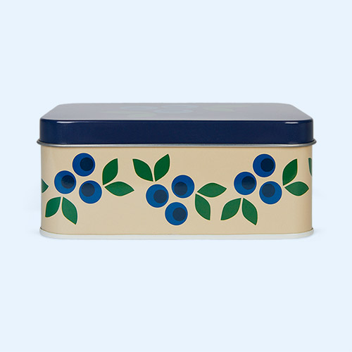 Blueberry Blafre Rectangular Tin Box