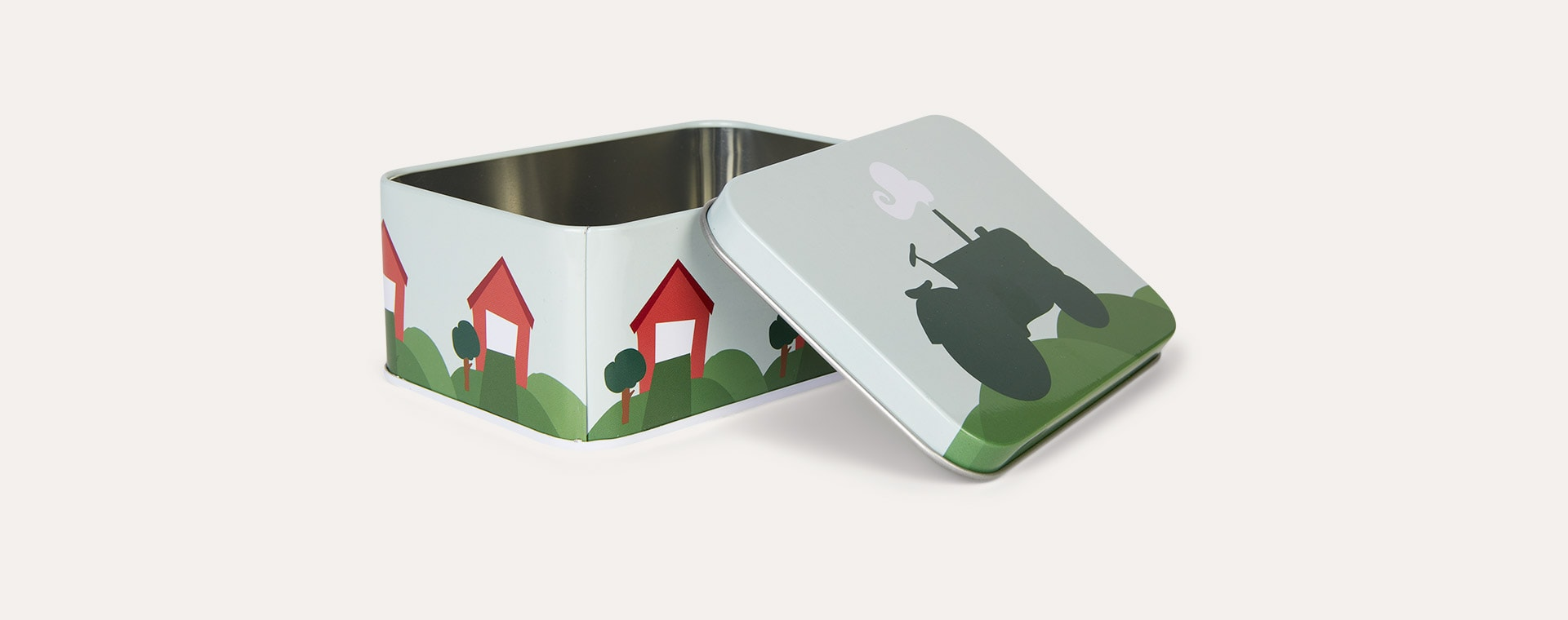 Tractor & Barn Blafre Rectangular Tin Box