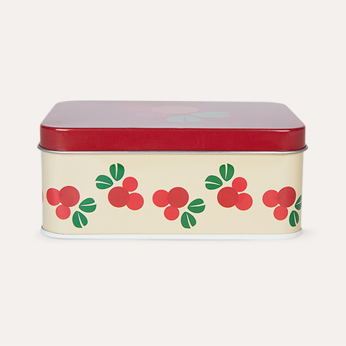 Cranberry Blafre Rectangular Tin Box