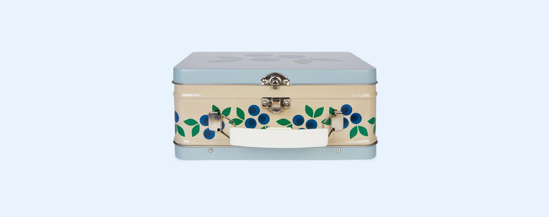 Blueberry Blafre Tin Suitcase