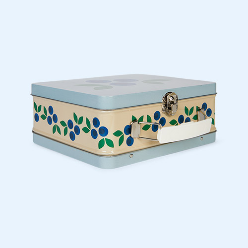 Blueberry Blafre Tin Suitcase