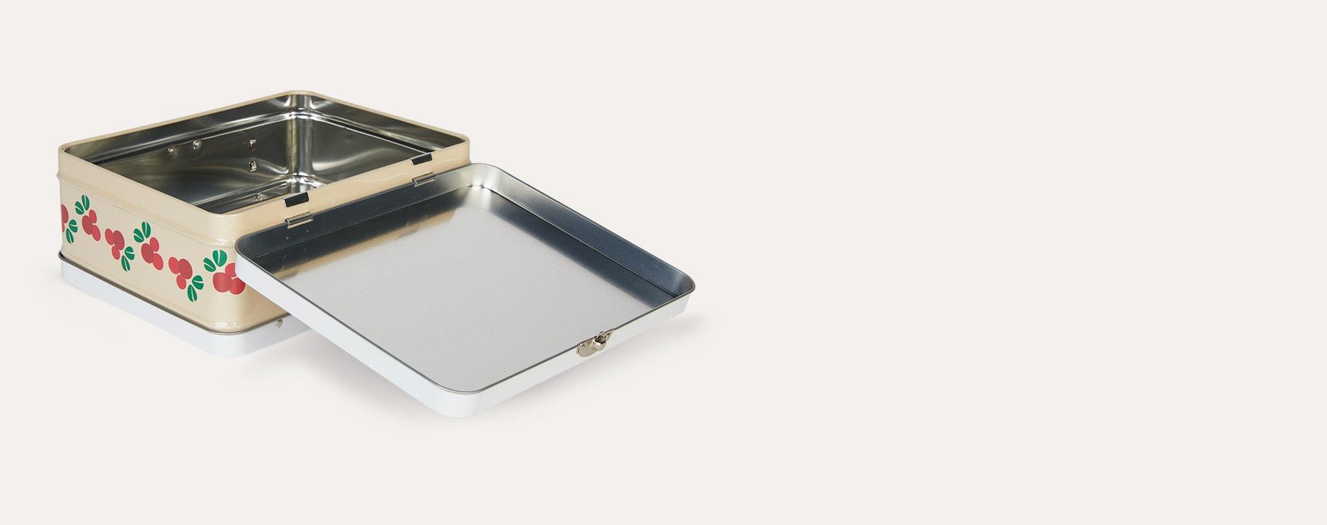 Cranberry Blafre Tin Suitcase