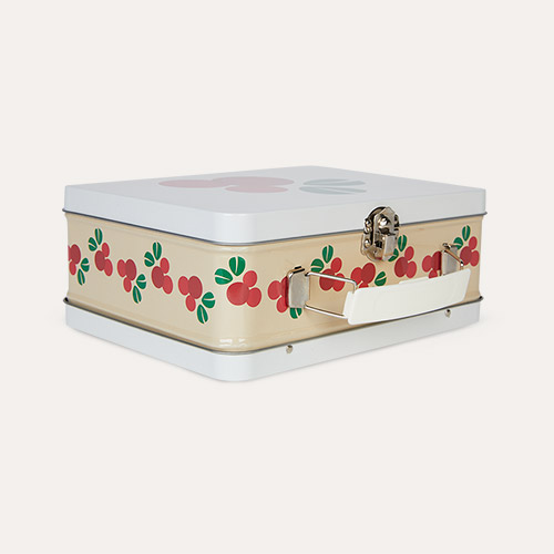 Cranberry Blafre Tin Suitcase