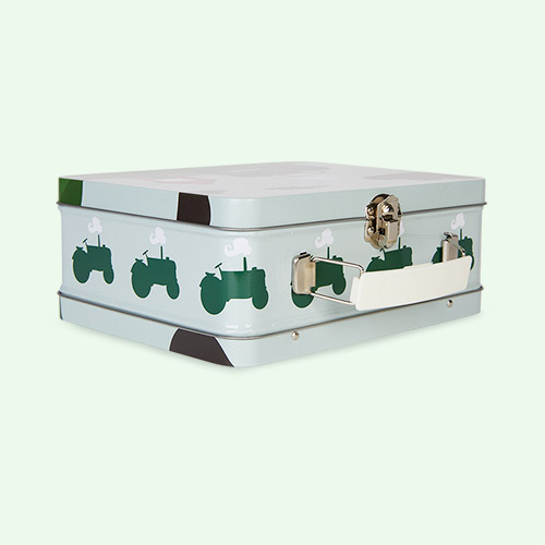 Tractor & Barn Blafre Tin Suitcase