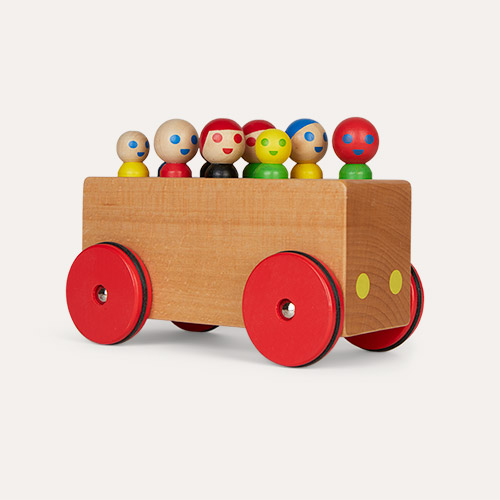 Multi Moulin Roty Wooden Bus With Passengers