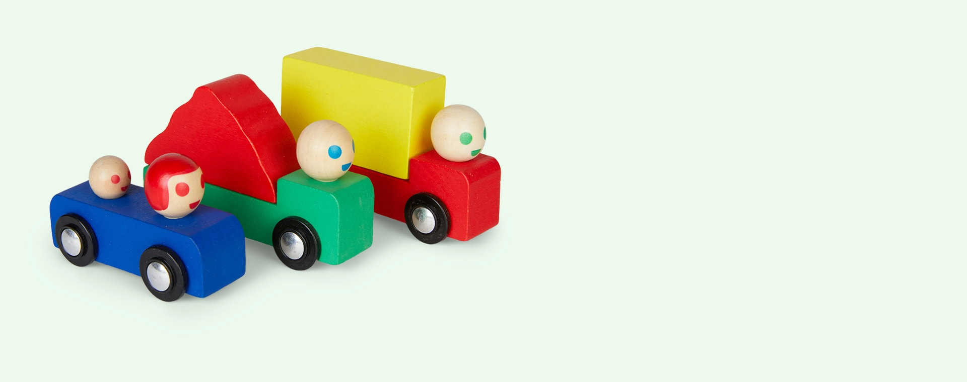 Multi Moulin Roty Set Of Wooden Cars & Trucks