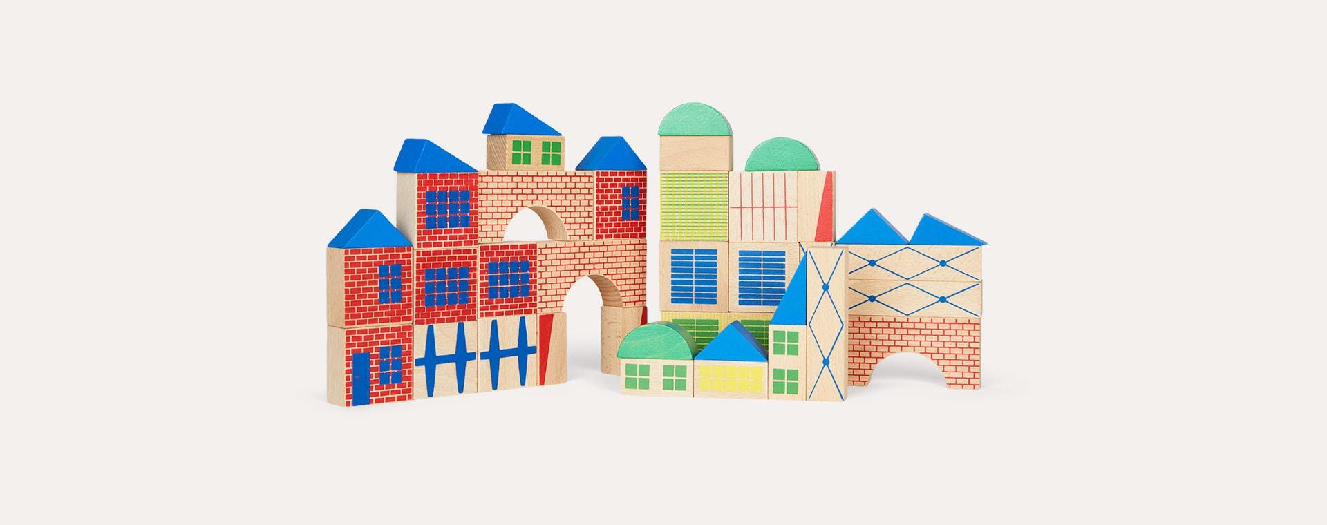 Multi Moulin Roty Building Blocks 40-Piece
