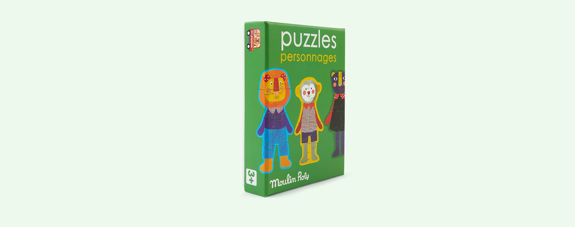 Multi Moulin Roty Set Of 4 Puzzles - 8 Pieces