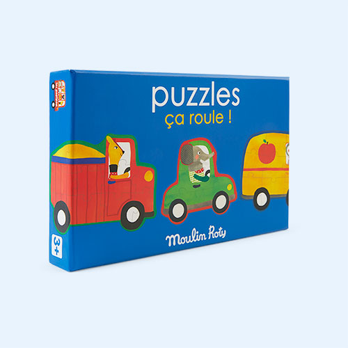 Multi Moulin Roty Set Of 4 Puzzles - 32 Pieces