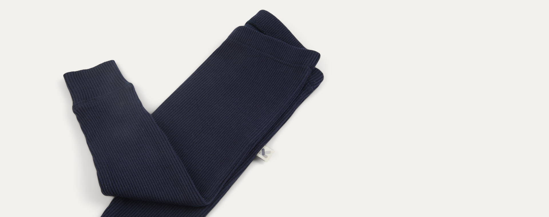 Navy KIDLY Label Organic Ribbed Legging