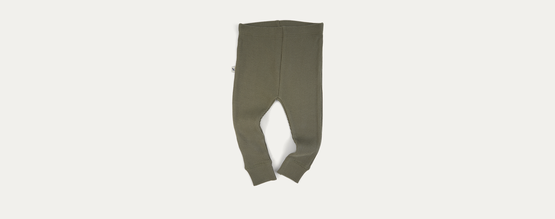 Khaki KIDLY Label Organic Ribbed Legging