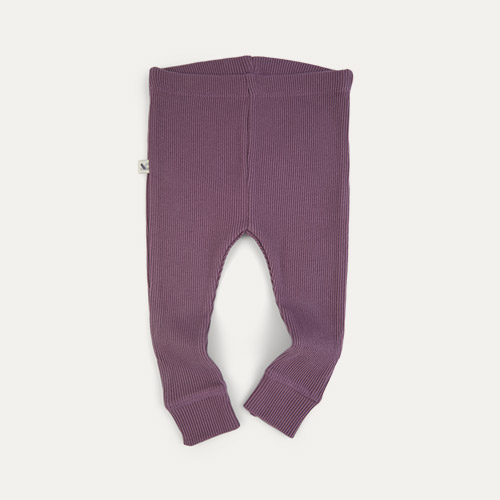 Grape KIDLY Label Organic Ribbed Legging