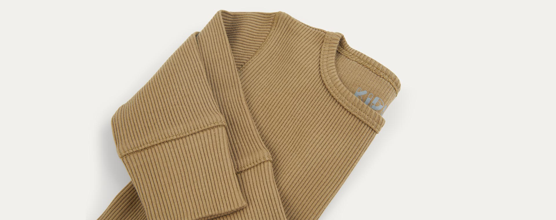 Camel KIDLY Label Organic Ribbed Tee