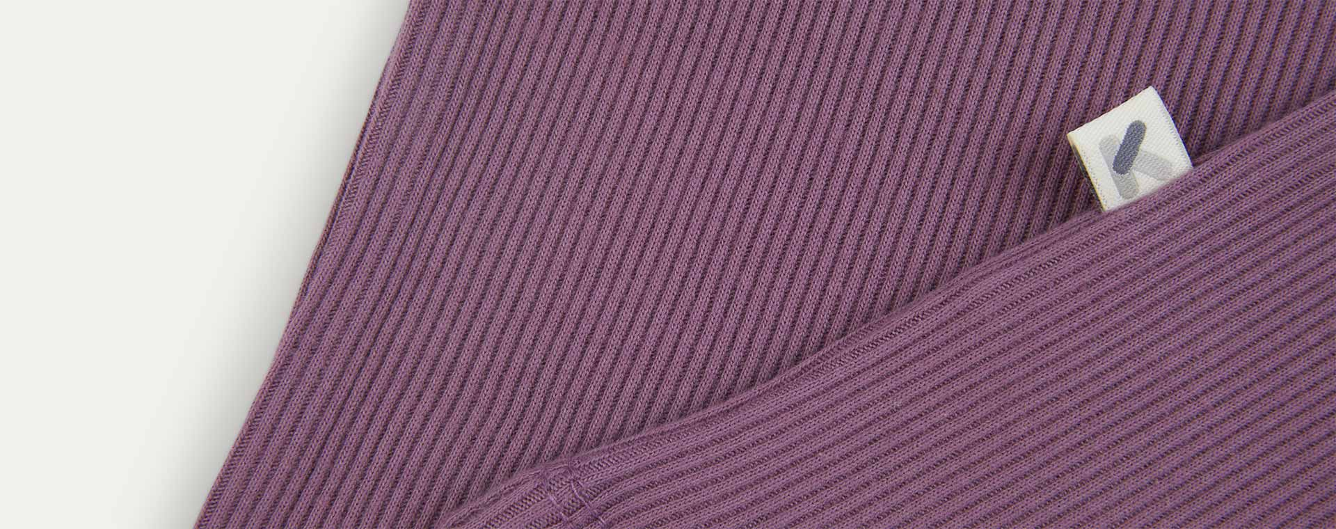 Grape KIDLY Label Organic Ribbed Tee