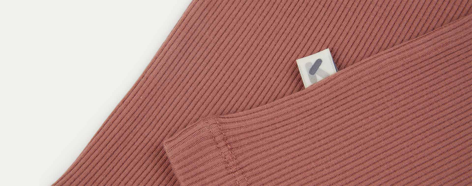 Brick KIDLY Label Organic Ribbed Tee