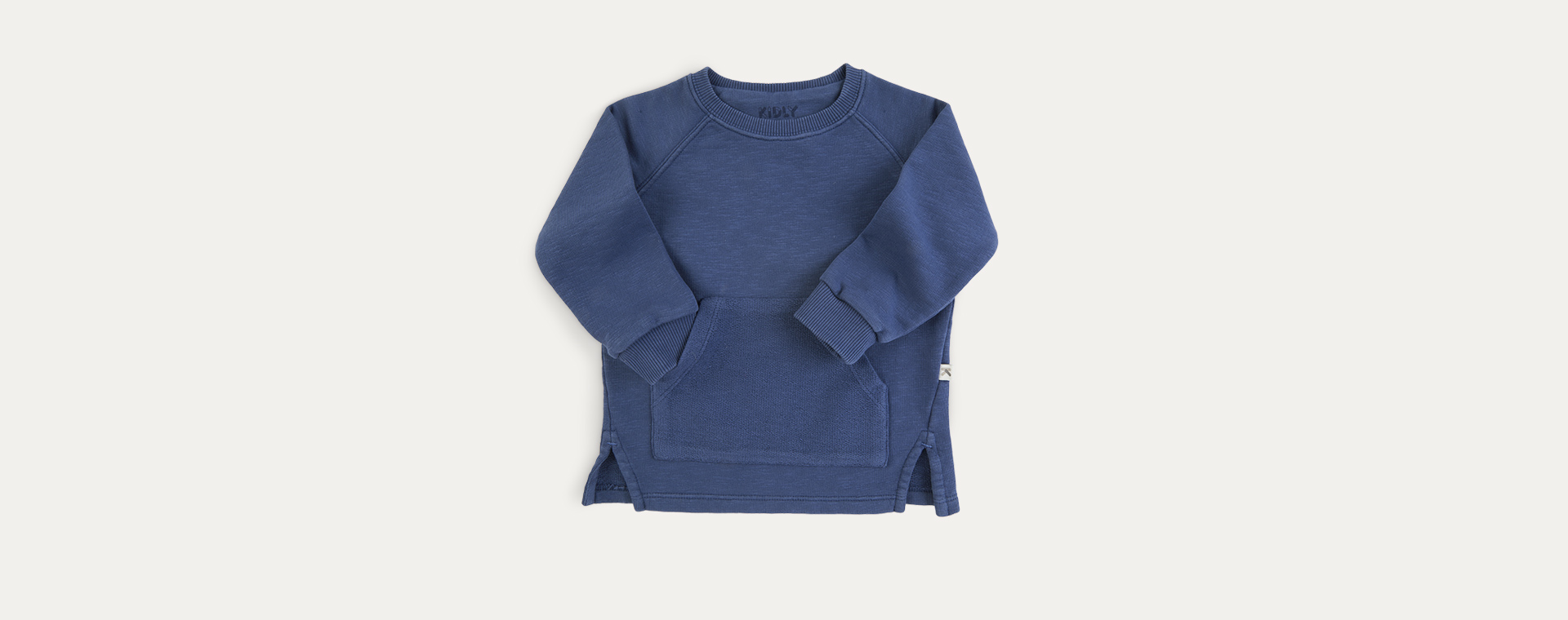 Navy KIDLY Label Organic Easy Sweatshirt