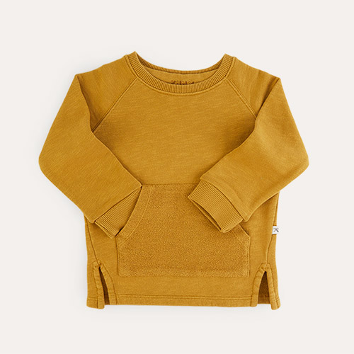 Light Mustard KIDLY Label Organic Easy Sweatshirt