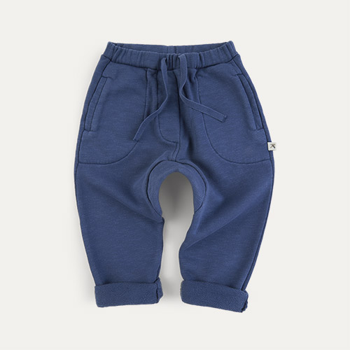 Navy KIDLY Label Organic Easy Jogger