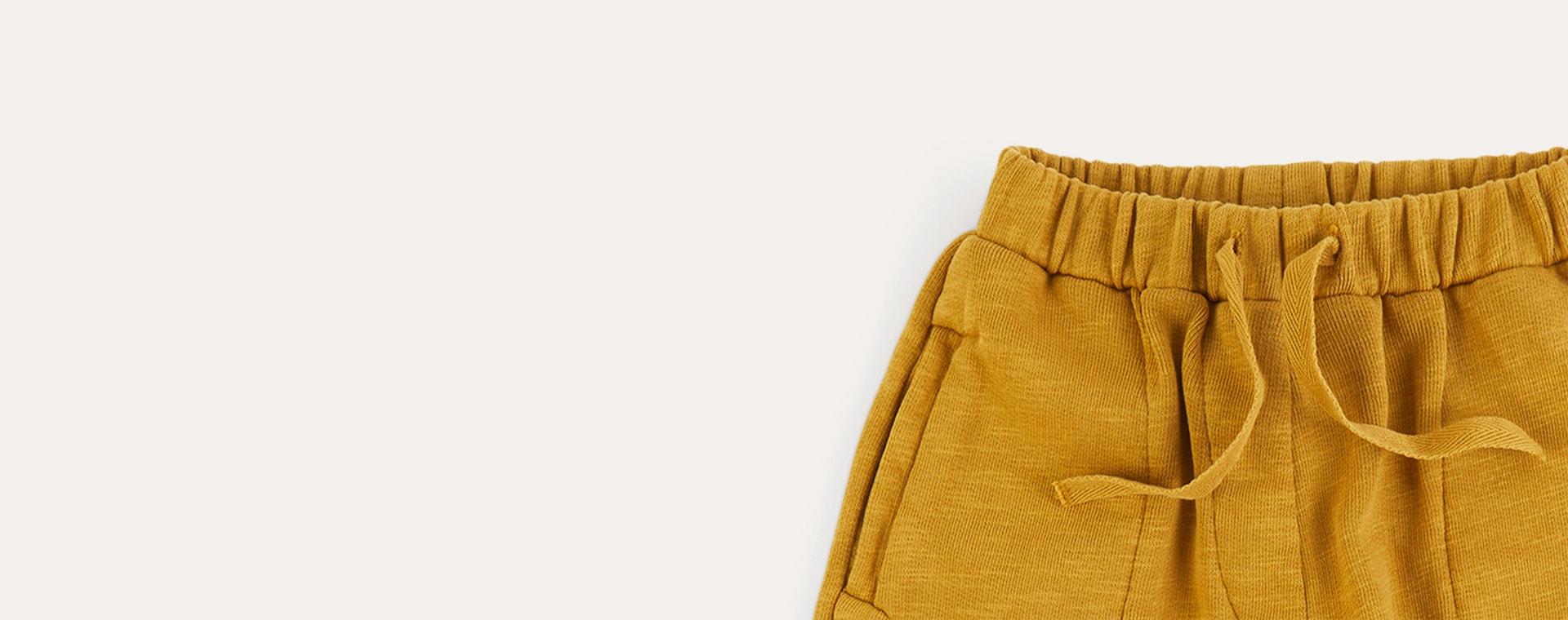 Light Mustard KIDLY Label Organic Easy Jogger